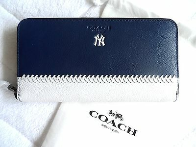 Genuine COACH NY New York Yankees Leather Wallet MLB Baseball Official New purse