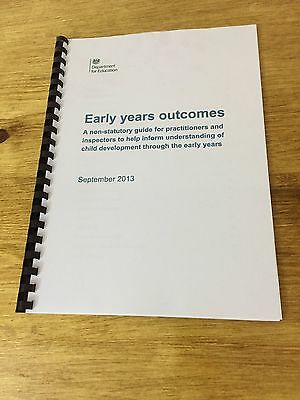Early Years Outcomes Sept 2013 EYFS