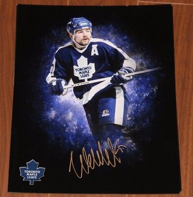 Wendel Clark Authentic Autographed Signed Toronto Maple Leafs 11x14 Photo W/COA