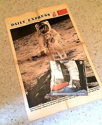 MAN ON THE MOON Apollo 11 Moon Landing Record Plus Daily Express Supplement NASA