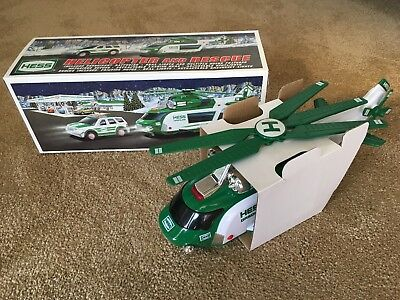 HESS TRUCK 2012 HELICOPTER AND RESCUE. New In Box.