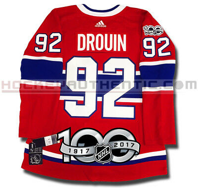 Jonathan Drouin Montreal Canadiens Adidas Home Jersey Authentic Pro 100Th Patch