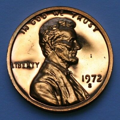 1972 S Lincoln Memorial Cent Gem DCAM Proof Penny  US Coin