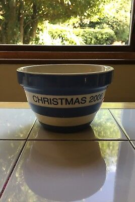 Cornishware/T.G Green Cornish Blue Pudding Bowl Christmas 2006 special edition