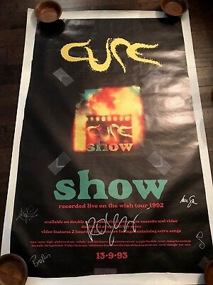 The Cure Fully Signed Show Poster - Chris Parry - 93 Line Up - Robert Smith