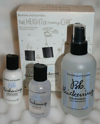 Bumble and bumble the thickening set - The height of (holiday) chic A trio of BB