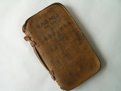 Vintage Leather 1971 GPO No.3 Tool Wallet Case - Telecom BT Telephone PO