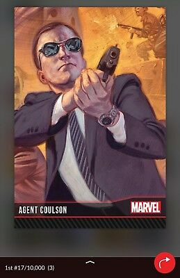 QUIDD MARVEL First Edition Red Base AGENT COULSON #17/10000 [Digital Card]