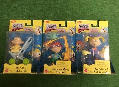 LOT 3 Nickelodeon RUGRATS Adventures POSEABLE Dolls FIGURES Playsets DIL Chuckie