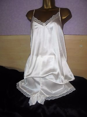 Stunning  Glossy Satin nightie baby doll  cami french nix  nightdress 18/20