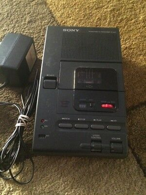Sony Microcassette Transcriber M-2000 With Power Supply Works