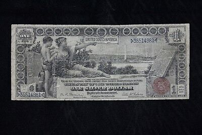 $1 1896 EDUCATIONAL NOTE LARGE SILVER CERTIFICATE >35514981< one dollar FREESHIP