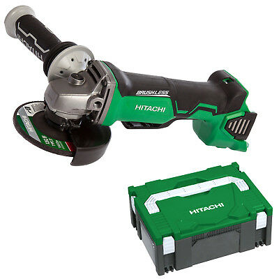 Hitachi 18V Li-Ion 125mm Cordless Brushless Angle Grinder & Carry Case - G18DBAL