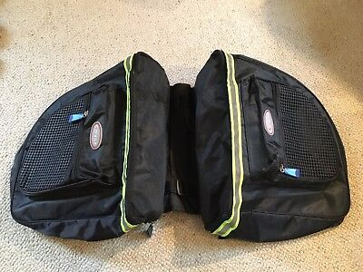 Giant double bicycle panniers in black - small size