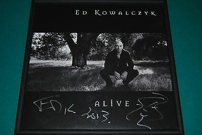 Live Ed Kowalczyk Autographed Limited Edition Record Album Display *coa*