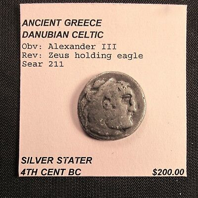 Ancient Greek Silver Stater - Alexander III - 4th Century BC