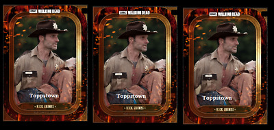 Topps The Walking Dead Card Trader BADASS MARATHON RICK GRIMES 3x Digital