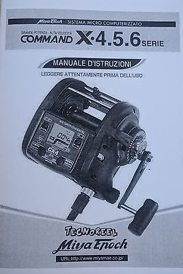 Manuale in italiano mulinello Miya Epoch Command X4 X5 X6