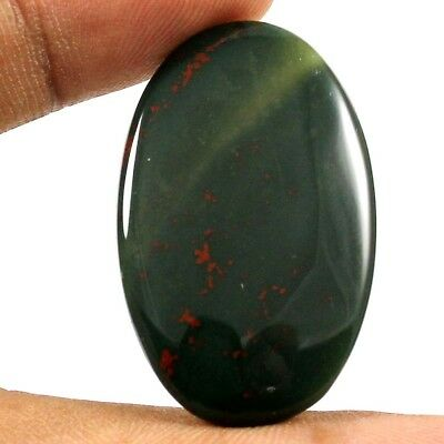 28.80 cts 100% Natural Stunning Quality Bloodstone Cabochon Oval Loose Gemstone