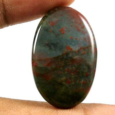 21.25 cts 100% Natural Stunning Quality Bloodstone Cabochon Oval Loose Gemstone
