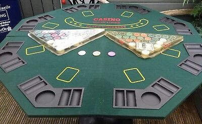 Portable Professional Gaming Table Green Baize Black Jack/ Poker  Etc