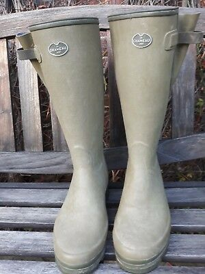 LE CHAMEAU VIERZONORD MENS NEOPRENE LINED SIZES 9.5 very good condition