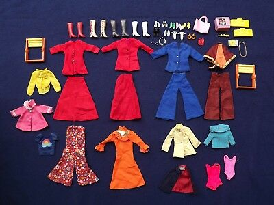 Lot of Vintage Barbie Bob Mackie Skipper Rainbow Top Shirt and Accessories