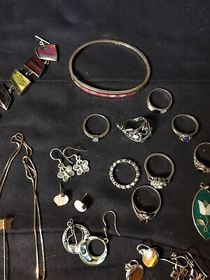 Sterling Silver 925 LOT Of Jewelry & Misc