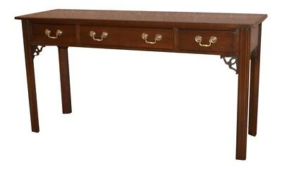 Ethan Allen Chinese Chippendale Style Cherry Console Table