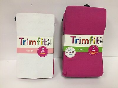 Trim Fit Fashion & Fleece Lined Tights * 2 Pair Pack * Made in USA *