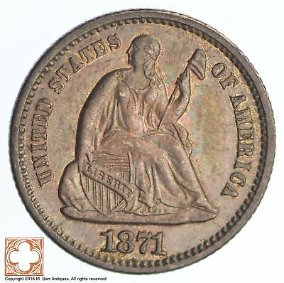 1871 Seated Liberty Silver Half Dime *SB79