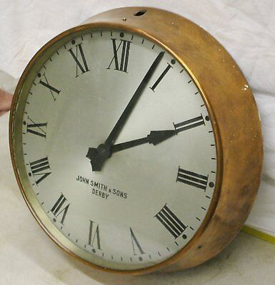 Gents Electric Slave Clock In Copper Case For Use With A Master