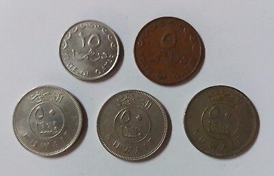 Mix Lot Of Stage Of Qatar & Kuwai Five Coins