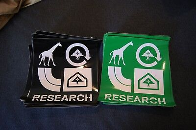New LRG Lifted Research Group L-R-G - 58 Green & Black Stickers