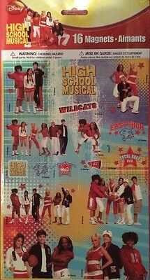 Disney High School Musical 16 Magnets (NEW FACTORY SEALED)