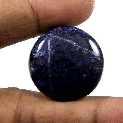 30.15 cts 100% Natural Sodalite Cabochon Round Loose Beautiful Designer Gemstone