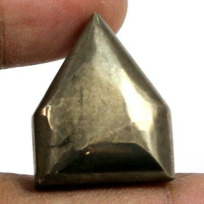 53.25 cts Natural Untreated Golden Pyrite Gemstone Fancy Shape Loose Cabochon