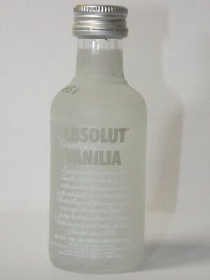 Absolut Vodka Vanilia Old 40% 50ml mini flaschen bottle miniature bottela 2