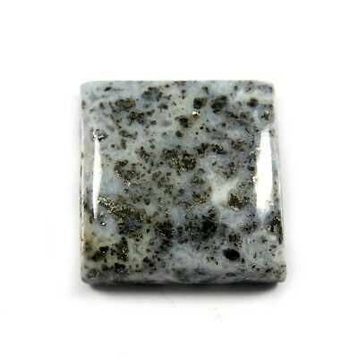 20.25 cts Excellent Rare Natural Fossil Pyrite Square Loose Gemstone Cabochon