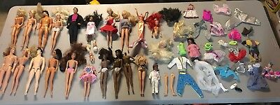 Vintage Barbie Lot 24 Barbies Random Clothing And Pieces 60s 70s 80s 90s