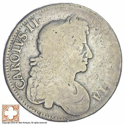 1676 Great Britain 1/2 Crown *XB41