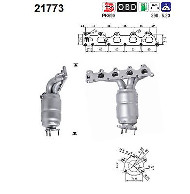 Catalytic Converter - AS S.L.21773 ( incl. Deposit)