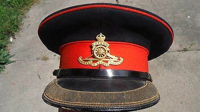 WWI Imperial British Army Visor Hat for Field Grade Artillery Office
