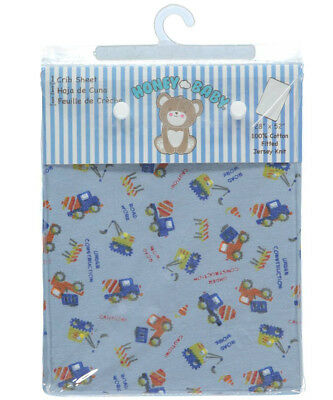 """Honey Baby """"Road Work"""" Fitted Crib Sheet (28"""" x 52"""")"""