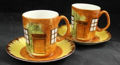 Price YE OLDE COTTAGE 2 Cup & Saucer Sets GREAT CONDITION