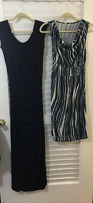 Lot Of 2 Maternity Dresses S XS Sleeveless Maxi Knee Legnth  Liz Lange