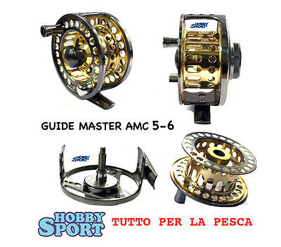 Fly Reel Mulinello Mosca  Line 5-6  Mod. Amc Gold Guide Master Rapture Trabucco