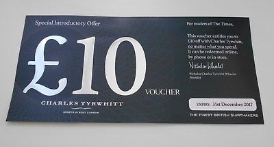 Charles Tyrwhitt Shirtmakers £10 Voucher