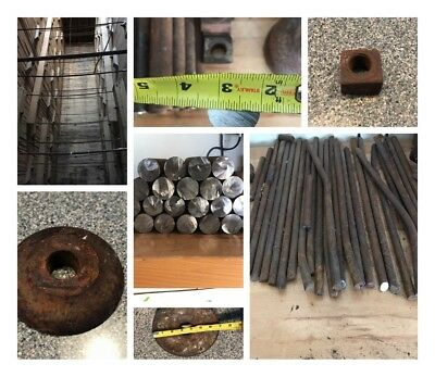 wrought iron box of 25lbs containing  bars 5/8"