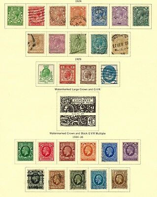 Great Britain #187-200,205-208,210-220 1924-36 Used/MH(187,205,210-13)